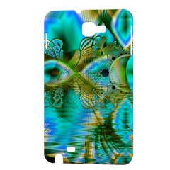 Crystal Gold Peacock, Abstract Mystical Lake Samsung Galaxy Note 1 Hardshell Case