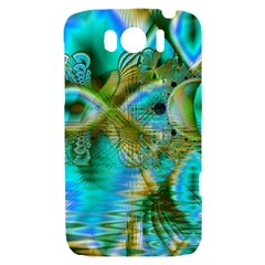 Crystal Gold Peacock, Abstract Mystical Lake HTC Sensation XL Hardshell Case