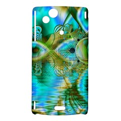 Crystal Gold Peacock, Abstract Mystical Lake Sony Xperia Arc Hardshell Case