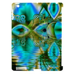 Crystal Gold Peacock, Abstract Mystical Lake Apple iPad 3/4 Hardshell Case (Compatible with Smart Cover)