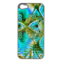 Crystal Gold Peacock, Abstract Mystical Lake Apple iPhone 5 Case (Silver)