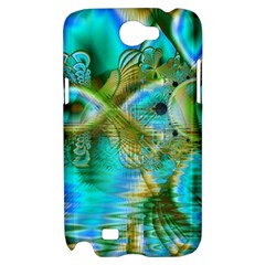 Crystal Gold Peacock, Abstract Mystical Lake Samsung Galaxy Note 2 Hardshell Case