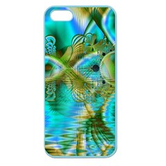 Crystal Gold Peacock, Abstract Mystical Lake Apple Seamless iPhone 5 Case (Color)
