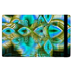 Crystal Gold Peacock, Abstract Mystical Lake Apple Ipad 2 Flip Case