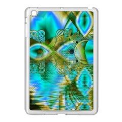 Crystal Gold Peacock, Abstract Mystical Lake Apple iPad Mini Case (White)