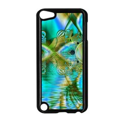Crystal Gold Peacock, Abstract Mystical Lake Apple iPod Touch 5 Case (Black)