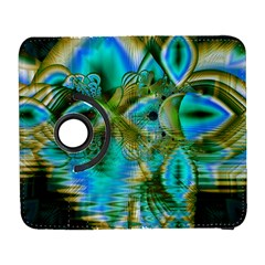Crystal Gold Peacock, Abstract Mystical Lake Samsung Galaxy S  III Flip 360 Case