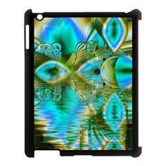 Crystal Gold Peacock, Abstract Mystical Lake Apple iPad 3/4 Case (Black)