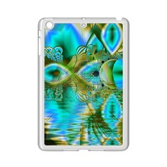 Crystal Gold Peacock, Abstract Mystical Lake Apple iPad Mini 2 Case (White)