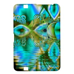 Crystal Gold Peacock, Abstract Mystical Lake Kindle Fire HD 8.9  Hardshell Case