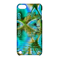 Crystal Gold Peacock, Abstract Mystical Lake Apple iPod Touch 5 Hardshell Case with Stand
