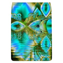 Crystal Gold Peacock, Abstract Mystical Lake Removable Flap Cover (Large)