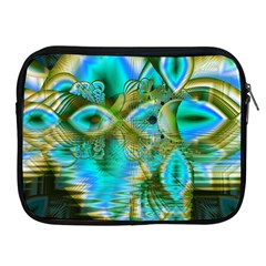 Crystal Gold Peacock, Abstract Mystical Lake Apple Ipad Zippered Sleeve