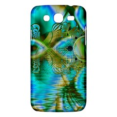 Crystal Gold Peacock, Abstract Mystical Lake Samsung Galaxy Mega 5.8 I9152 Hardshell Case