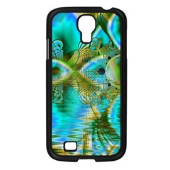 Crystal Gold Peacock, Abstract Mystical Lake Samsung Galaxy S4 I9500/ I9505 Case (Black)