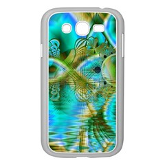 Crystal Gold Peacock, Abstract Mystical Lake Samsung Galaxy Grand DUOS I9082 Case (White)