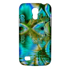 Crystal Gold Peacock, Abstract Mystical Lake Samsung Galaxy S4 Mini (GT-I9190) Hardshell Case