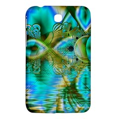 Crystal Gold Peacock, Abstract Mystical Lake Samsung Galaxy Tab 3 (7 ) P3200 Hardshell Case