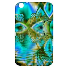 Crystal Gold Peacock, Abstract Mystical Lake Samsung Galaxy Tab 3 (8 ) T3100 Hardshell Case