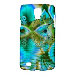 Crystal Gold Peacock, Abstract Mystical Lake Samsung Galaxy S4 Active (i9295) Hardshell Case