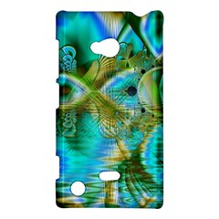 Crystal Gold Peacock, Abstract Mystical Lake Nokia Lumia 720 Hardshell Case