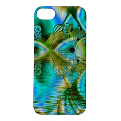 Crystal Gold Peacock, Abstract Mystical Lake Apple iPhone 5S Hardshell Case