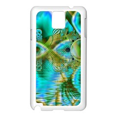 Crystal Gold Peacock, Abstract Mystical Lake Samsung Galaxy Note 3 N9005 Case (White)