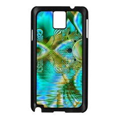 Crystal Gold Peacock, Abstract Mystical Lake Samsung Galaxy Note 3 N9005 Case (Black)