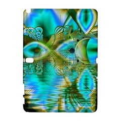 Crystal Gold Peacock, Abstract Mystical Lake Samsung Galaxy Note 10.1 (P600) Hardshell Case