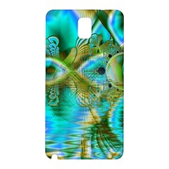 Crystal Gold Peacock, Abstract Mystical Lake Samsung Galaxy Note 3 N9005 Hardshell Back Case
