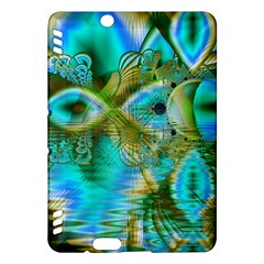 Crystal Gold Peacock, Abstract Mystical Lake Kindle Fire HDX 7  Hardshell Case