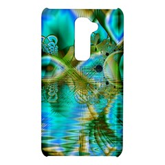Crystal Gold Peacock, Abstract Mystical Lake LG G2 Hardshell Case