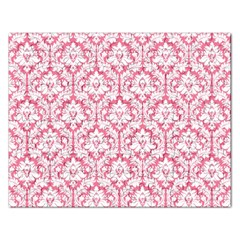 White On Soft Pink Damask Jigsaw Puzzle (Rectangle)