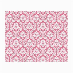 White On Soft Pink Damask Glasses Cloth (small, Two Sided)