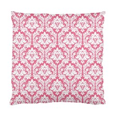 soft Pink Damask Pattern Standard Cushion Case (Two Sides)