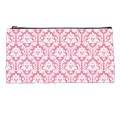 soft Pink Damask Pattern Pencil Case