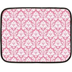 soft Pink Damask Pattern Double Sided Fleece Blanket (Mini)