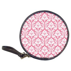 White On Soft Pink Damask Cd Wallet