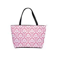 soft Pink Damask Pattern Classic Shoulder Handbag