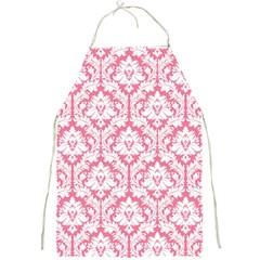 soft Pink Damask Pattern Full Print Apron