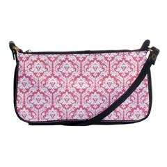 Soft Pink Damask Pattern Shoulder Clutch Bag