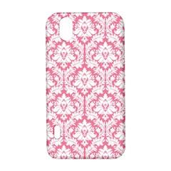 White On Soft Pink Damask LG Optimus P970 Hardshell Case
