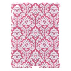White On Soft Pink Damask Apple iPad 3/4 Hardshell Case (Compatible with Smart Cover)