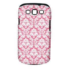 White On Soft Pink Damask Samsung Galaxy S Iii Classic Hardshell Case (pc+silicone)