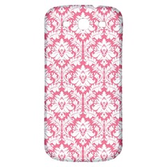 White On Soft Pink Damask Samsung Galaxy S3 S Iii Classic Hardshell Back Case