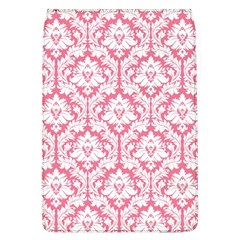 White On Soft Pink Damask Removable Flap Cover (Large)