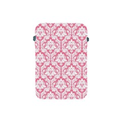 White On Soft Pink Damask Apple iPad Mini Protective Sleeve