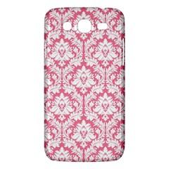White On Soft Pink Damask Samsung Galaxy Mega 5 8 I9152 Hardshell Case