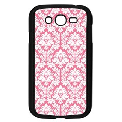 White On Soft Pink Damask Samsung Galaxy Grand Duos I9082 Case (black)