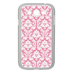 White On Soft Pink Damask Samsung Galaxy Grand Duos I9082 Case (white)
